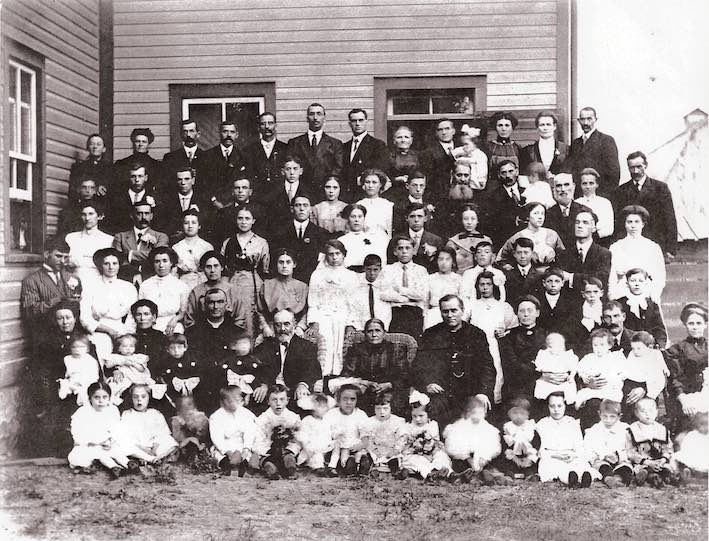Joanis, Pierre Jules and Domithilde Maisonneuve 50th Wedding Anniversary Photo 1911 tagged
